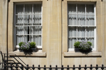 Georgian window front in Bath